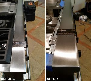 Repaired and Refinished Commercial Stove
